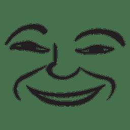 Sorriso desenhado à mão emoticon