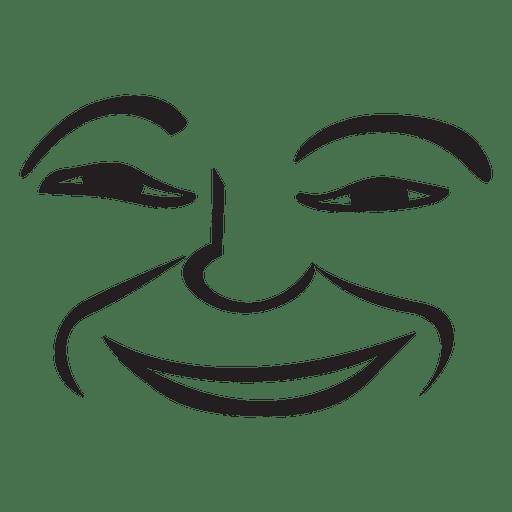 Smile Hand Drawn Emoticon Transparent Png Svg Vector File