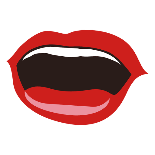 Expresión de boca de mujer sonriente