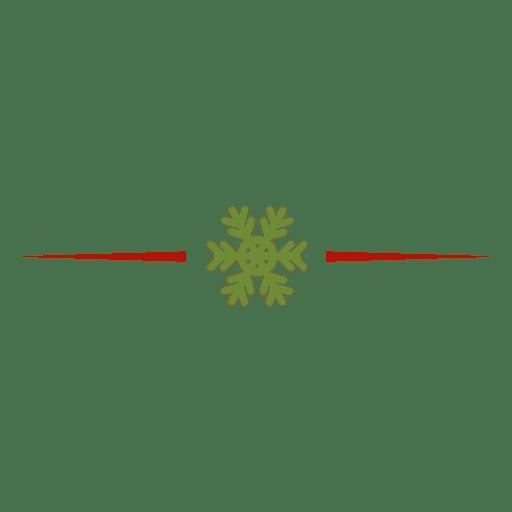 Schneeflocke-Teiler Transparent PNG