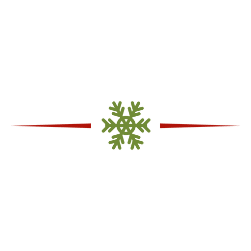 Snowflake divider - Transparent PNG & SVG vector