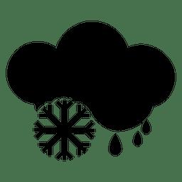 Verschneit mit Regen-Symbol