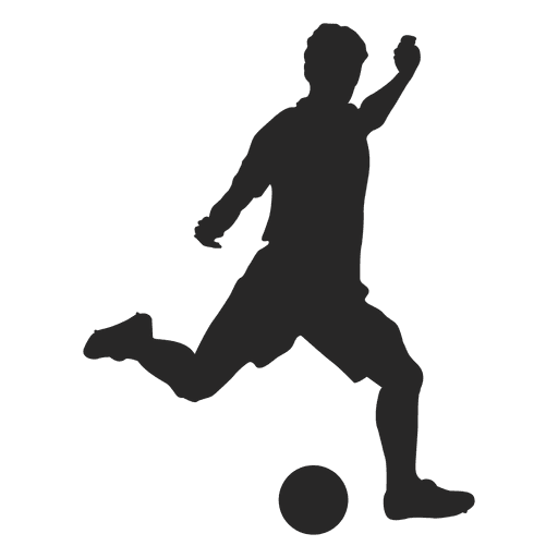 Soccer player hitting 1 Transparent PNG