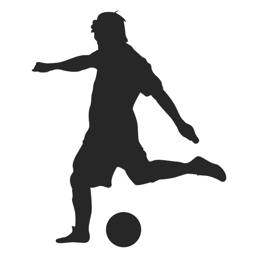 Soccer player kicking ball in gray Transparent PNG
