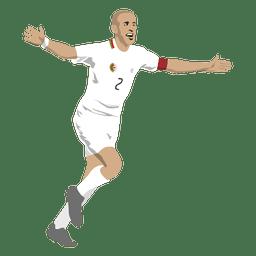 Desenho de jogador de futebol Sofiane Feghouli