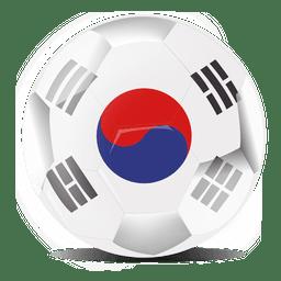 futebol de bandeira de coreia do sul