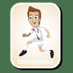 Desenhos animados do jogador de futebol da Coreia do Sul