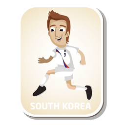 South korea football player cartoon