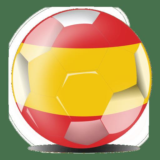 Bandera de fútbol de España Transparent PNG