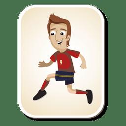 Dibujos animados de futbolista de españa