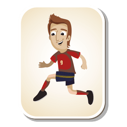 Spain football player cartoon