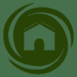 Icono de casa de remolinos de espiral