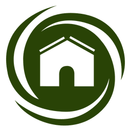Spiral swirls house icon