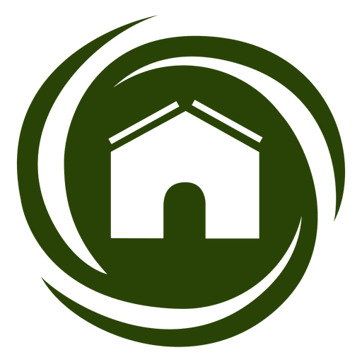 Spiral swirls house icon Transparent PNG