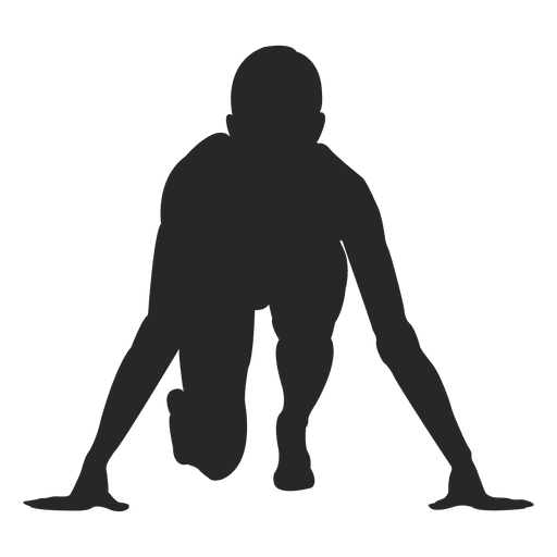 Deportista en correr marca Transparent PNG