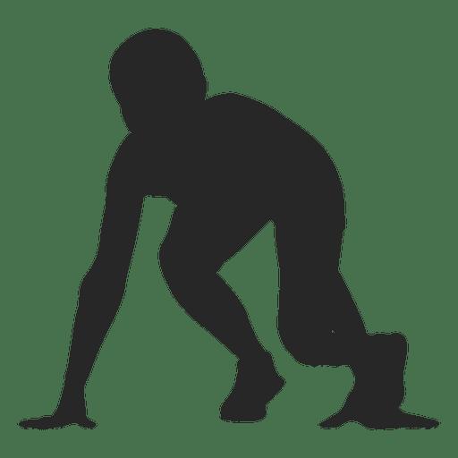 Esportista na marca de corrida 1 Transparent PNG