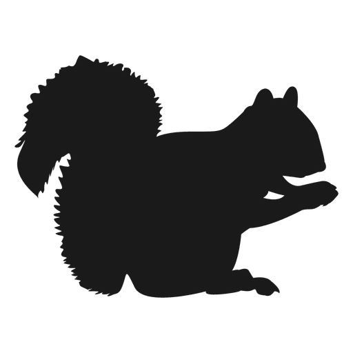Squirrel silhouette Transparent PNG