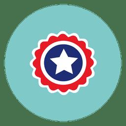 Star badge round icon
