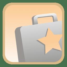 Botão quadrado de pasta estrela