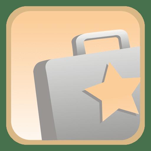 Botão quadrado de pasta estrela Transparent PNG