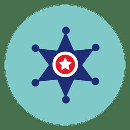 Estrela, redondo, ícone