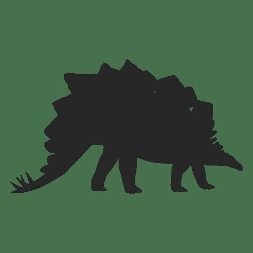 Silueta de stegosaur Transparent PNG