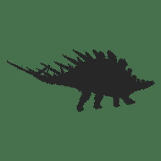 Silueta de stegosaurio 1 Transparent PNG