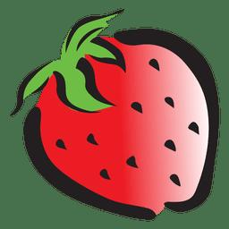 Dibujos animados de fresa