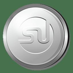 Icono de círculo de plata de Stumbleupon