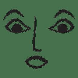 Surprise face emoticon