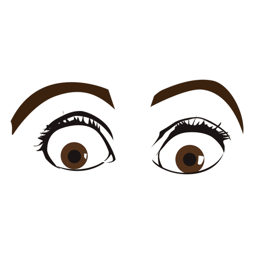 Ojos femeninos sorprendidos Transparent PNG