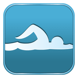Swimming square icon