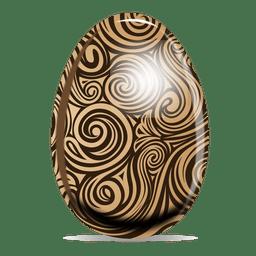 Remolino patrón huevo de pascua