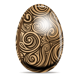 Swirls pattern easter egg