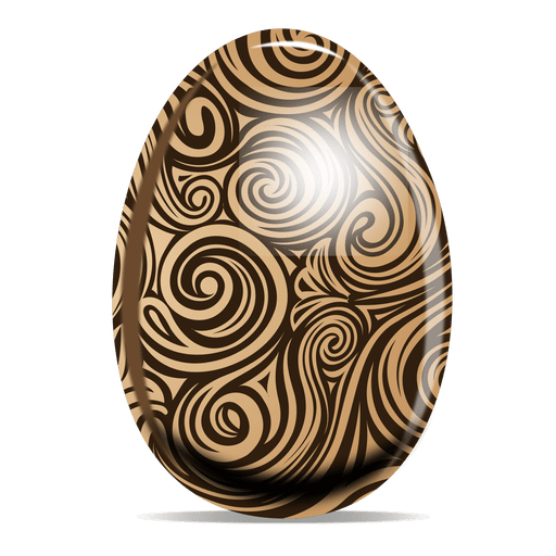 Huevo de pascua de patr?n de remolinos