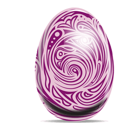 Swirls pattern easter egg 1