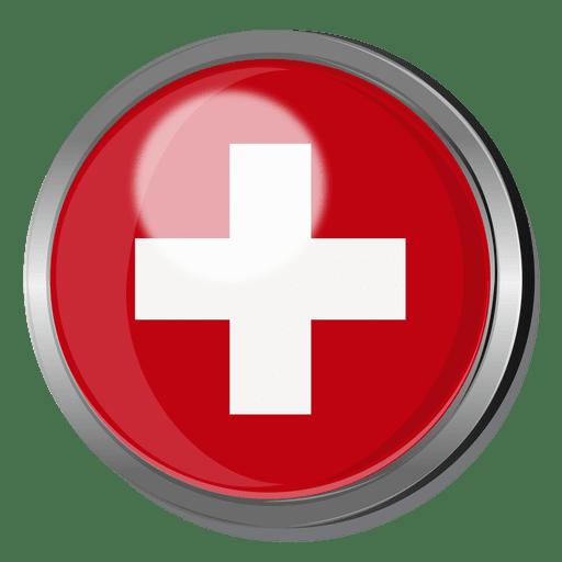 Switzerland flag badge Transparent PNG