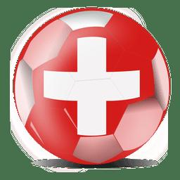 Bandera de futbol de suiza