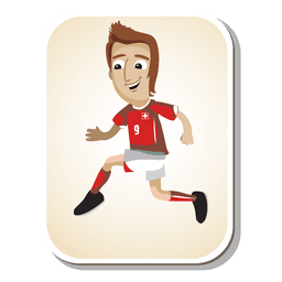 Switzerland football player cartoon