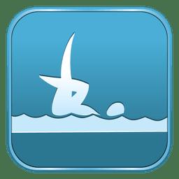 Icono cuadrado de natación sincronizada