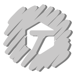T round distorted icon