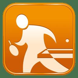 Ícone quadrado de tênis de mesa