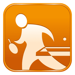 Icono de tenis de mesa cuadrado