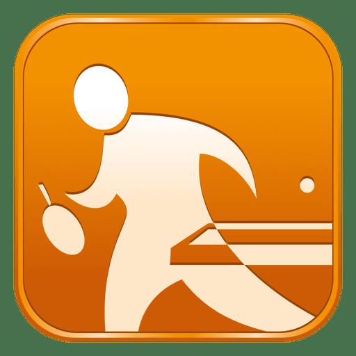 Ícone quadrado de tênis de mesa Transparent PNG
