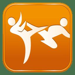Taekwondo quadrado ícone