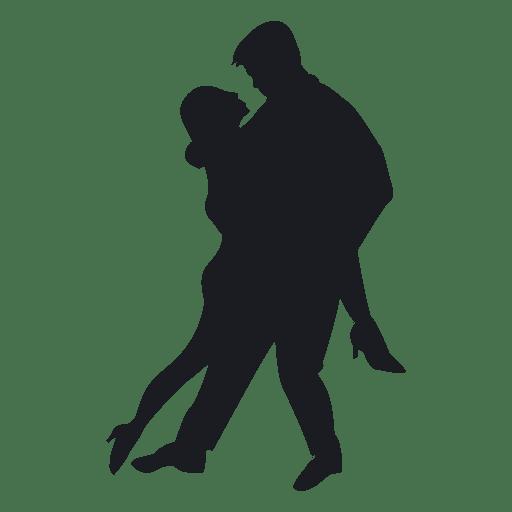 Pareja de tango bailando Transparent PNG