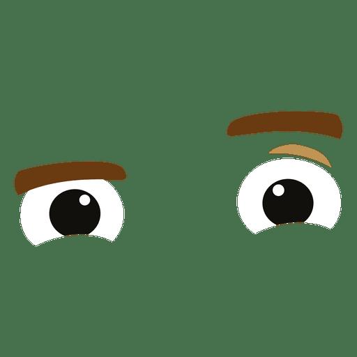Expresión de ojos burlones