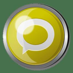 Technorati round metal button