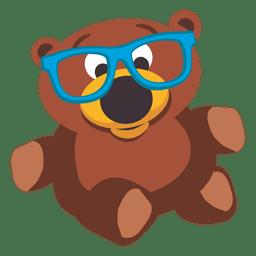 Boneca de urso de pelúcia com óculos