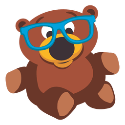 Teddy bear doll with glasses